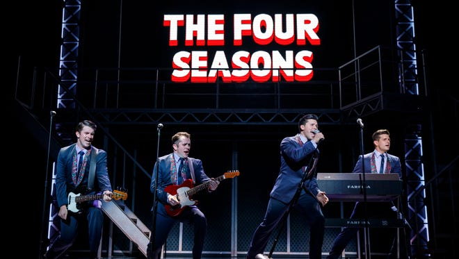 """Starring in the national tour of """"Jersey Boys"""" is, from left, Chris Stevens, Corey Greenan, Jonny Wexler and Tommaso Antico."""