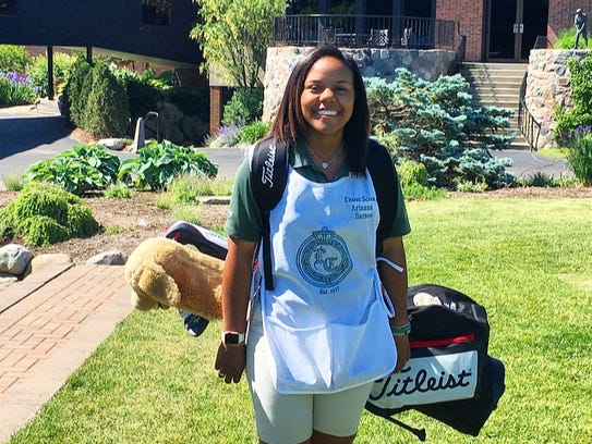 Arianna Barnes is from Detroit and caddied at Lochmoor