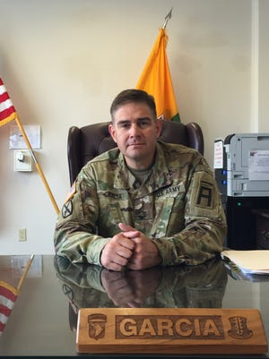 Col. Paul Garcia, a native of McAllen, Texas, is the new commander of 5th Armored Brigade. The Dagger Brigade trains National Guard and Reserve units before they deploy.