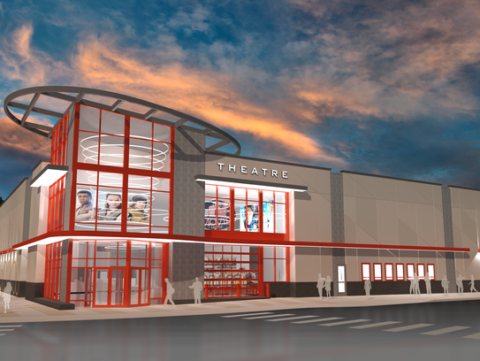 The rendering above shows plans for the new theater