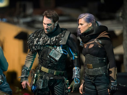 Derek Wilson as Wolf and Eliza Coupe as Tiger in 'Future
