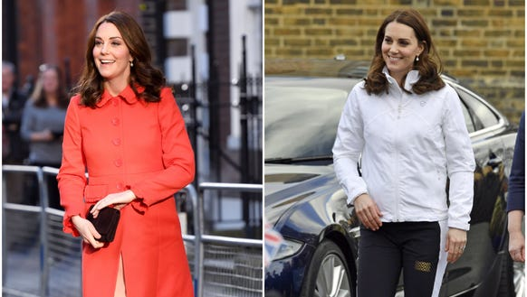 It was a two-outfit day for Duchess Kate.