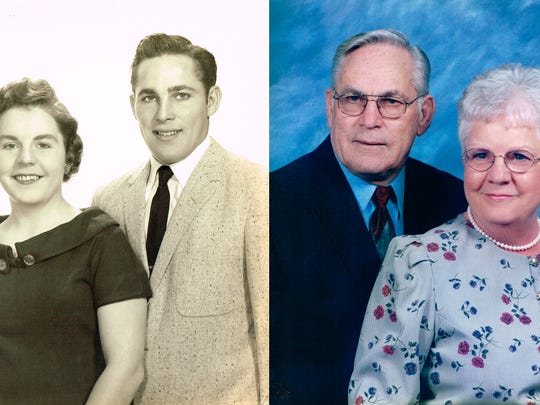 Patricia and Ray Mills pose in pictures through the years.