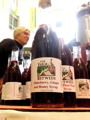 Fruit-based syrups, concocted at The Farm Between in