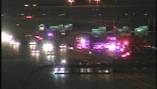 A crash involving an ambulance restricted traffic on U.S. 60 eastbound near Sossaman Road on Friday night.