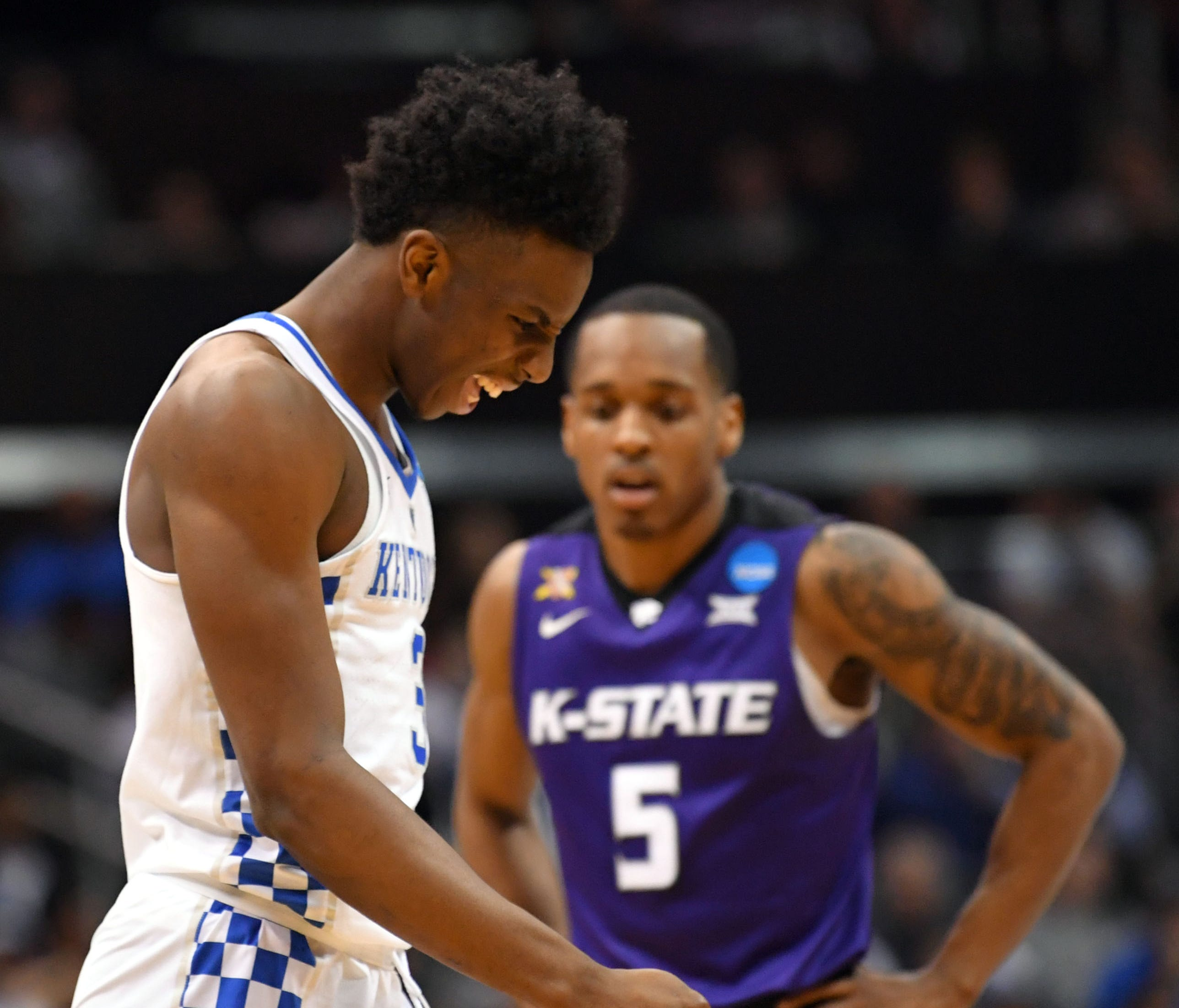 Kentucky Wildcats guard Hamidou Diallo had just two points in Thursday's Sweet 16 loss to Kansas State.