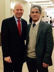 Gov. Jack Markell poses with Vidadi M. Yusibov, executive