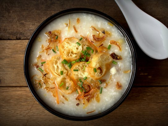Can we talk about this gorgeous congee? This rice porridge