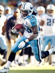 6. Chris Johnson Position: Running back Height, weight: 5-11, 195 Drafted: First round (24th overall) In: 2008 Out of: East Carolina By: Tennessee Titans GM Mike Reinfeldt