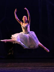 """Cinderella (Ali Jans) performs as part of Cinderella's story during the Wichita Ballet Theatre's """"Once Upon a Ballet"""" in May 2017 at Memorial Auditorium."""