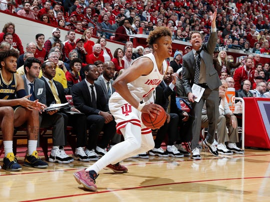 Indiana freshman Romeo Langford is averaging 17.3 points per game in Big Ten games, despite the Hoosiers' slide.