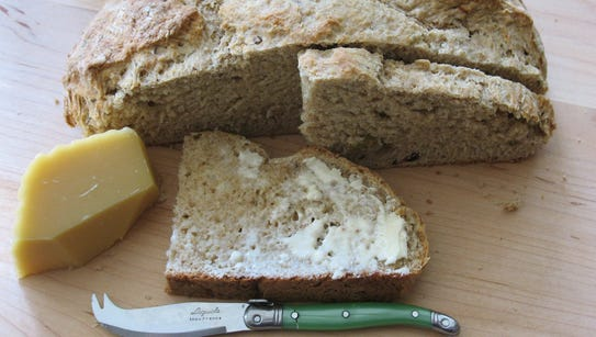Irish soda bread is a quick and easy recipe to make