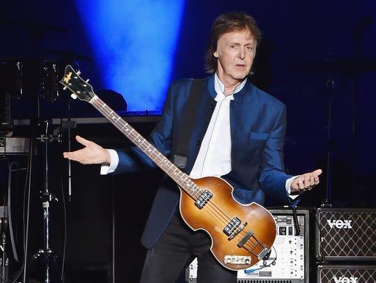 Paul McCartney, pictured  at MetLife Stadium on Aug.
