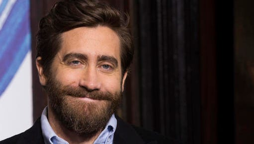 """Jake Gyllenhaal participates in Broadway's """"Sunday in the Park with George"""" media day and Hudson Theatre grand re-opening ceremony on Wednesday, Feb. 8, 2017, in New York."""