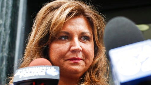 "FILE- In this June 27, 2016, file photo, ""Dance Moms"" star Abby Lee Miller leaves federal court after pleading guilty in Pittsburgh to bankruptcy fraud and failing to report thousands of dollars in Australian currency she brought into the country. Miller posted on Instagram March 26, 2017, that she quit the Lifetime series."