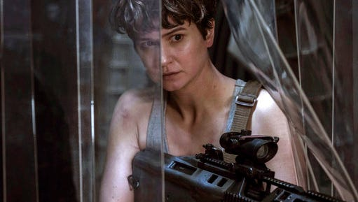 "Katherine Waterston stars in ""Alien: Covenant,"" in theaters on May 19."