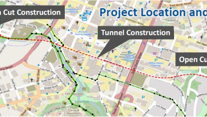 The largest underground sewer project ever in Greenville will begin after the new year.