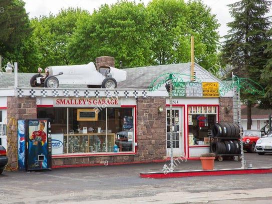 Smalley's garage.
