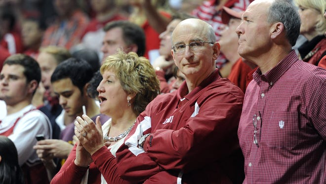 Lorri and Steve Zeller, parents of Indiana's Cody Zeller, watch March 5, 2012, at Assembly Hall.