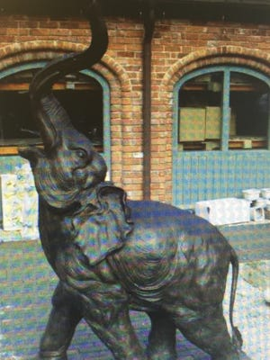 Ventura County Sheriff's Office is seeking help in recovering two stolen bronze elephant statues identical to the one in the photograph.