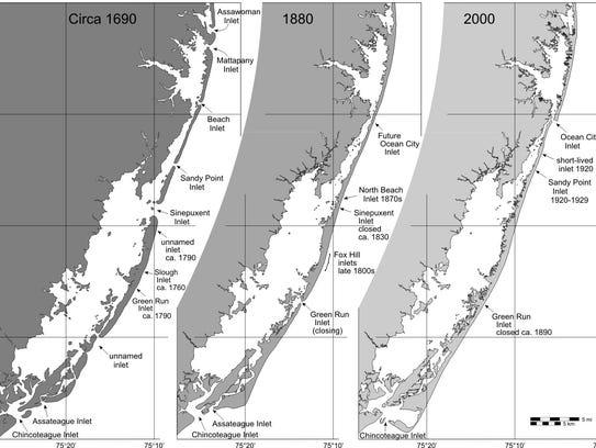 The progression of Assateague Island's ever-evolving