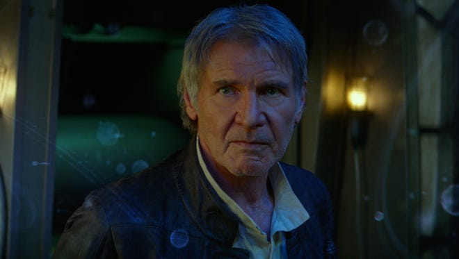 """Harrison Ford returns as Han Solo in """"Star Wars: The Force Awakens."""""""