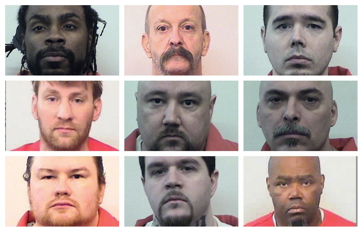 Indiana death row holds 13 prisoners