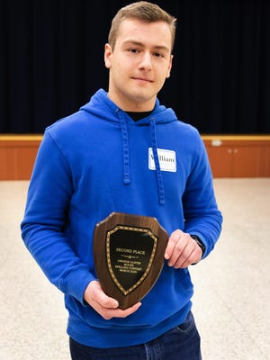 William Mackin III from Port Jervis Middle School was the second-place finisher in the annual Orange County Spelling Bee on March 10.