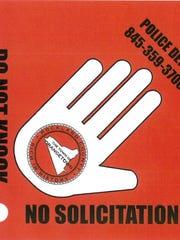 "A proposal for Orangetown's ""Do-Not-Knock"" sticker."