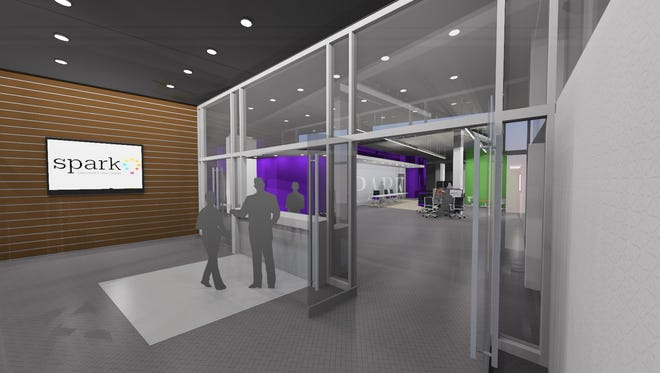 A rendering of Lipscomb University's downtown location, which will be located near the intersection of Fourth Avenue North and Commerce Street.