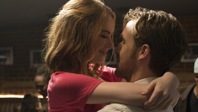 "Emma Stone and Ryan Gosling star in the musical ""La La Land."""