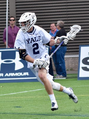 Yale's Ben Reeves has 28 goals and 28 assists so far this season.