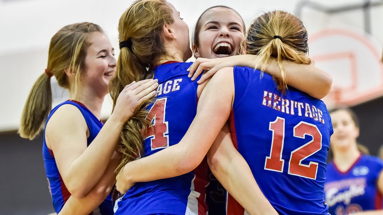 Watch: Heritage tops Shalom in MDCC girls volleyball