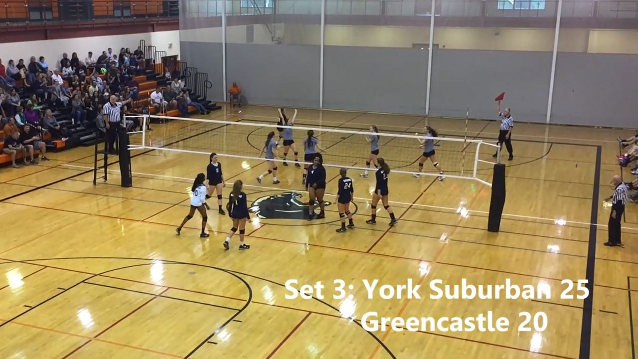 Watch: York Suburban ousts Greencastle in district volleyball