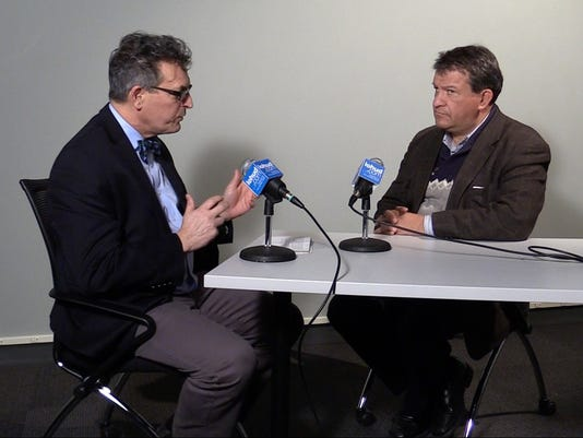 George Latimer talks with David Wilson