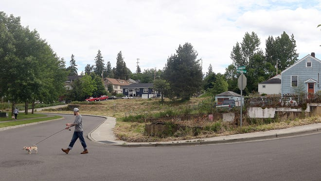 The site of the Evergreen Point apartment project in Bremerton, which is back on the market.