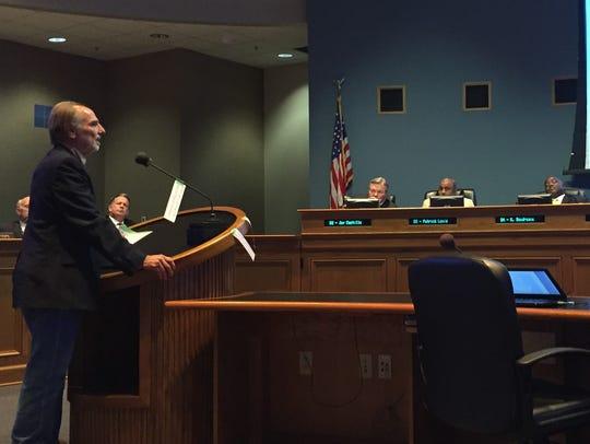 Andy Hebert addresses the Lafayette City-Parish Council