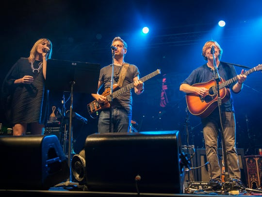 Grace Potter and Phish members Mike Gordon and Trey Anastasio performed together in 2017 at Potter's Grand Point North festival at Waterfront Park in Burlington.