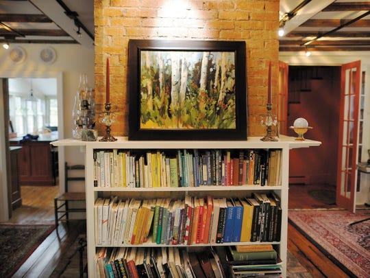 The 200-year-old house that Harris shares with her husband looks like an artist's home.
