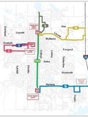 Transfort's service on Sundays and holidays will include the MAX route and five supporting routes.