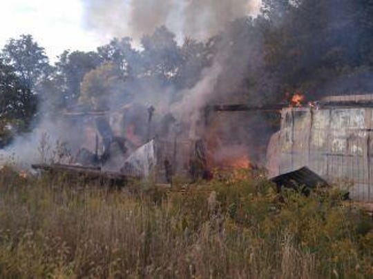 The sawmill at Eichhorn Lumber Products, 717 Ohio 100 South, was destroyed by a fire Thursday afternoon