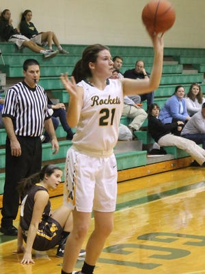 Jaclyn Geygan puts up a jumper against Alter Dec. 5.