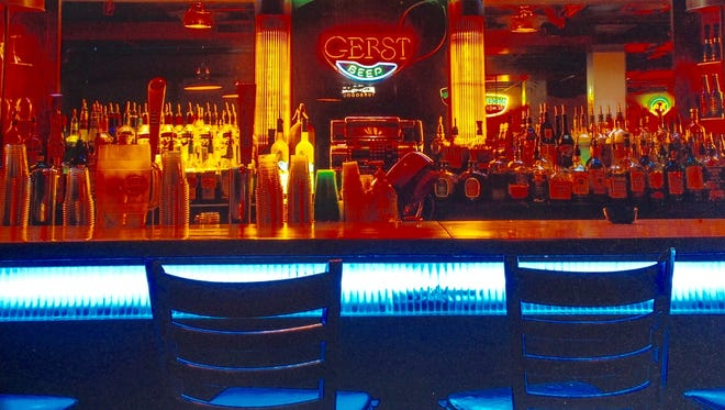 ​ The back bar at the old Melrose Billiards, which the Chandler brothers operated for 47 years.  ​