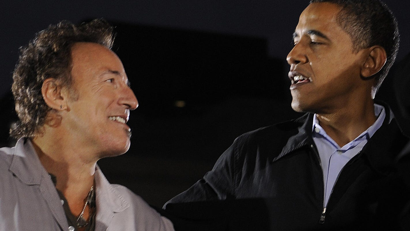 Image result for President obama in NY at a springsteen show