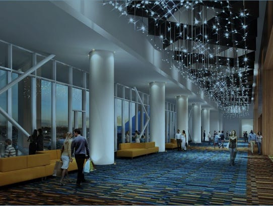 Rendering by LRK/TVS architects shows flexible convention