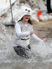 Participants during the Green Bay Polar Plunge at The