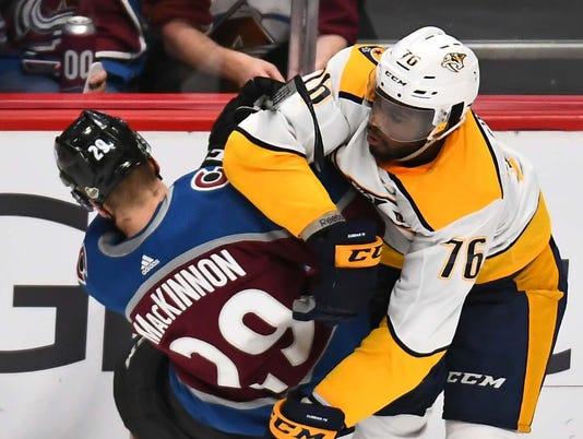 NHL: Stanley Cup Playoffs-Nashville Predators at Colorado Avalanche