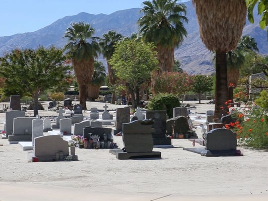 he Agua Caliente Band of Cahuilla Indians' Jane Patencio Augustine Cemetery in Palm Springs.