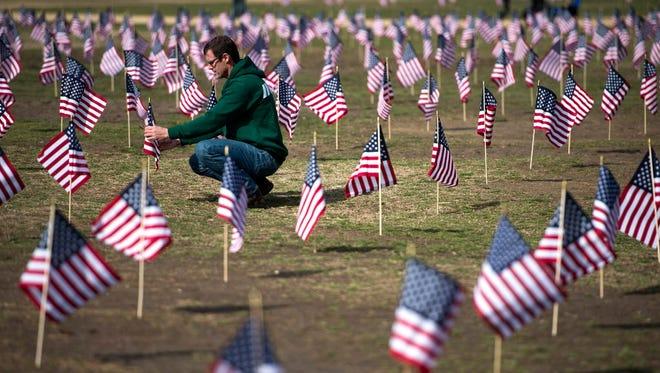 Veterans suicide awareness demonstration in Washington in 2014.