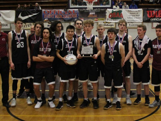 Dayton's boys basketball team placed second in Class